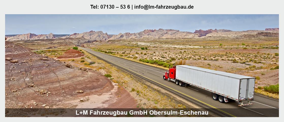 Fahrzeugbau Ellhofen - L+M Fahrzeugbau GmbH: Tiefladeranhänger, Sonderanfertigungen
