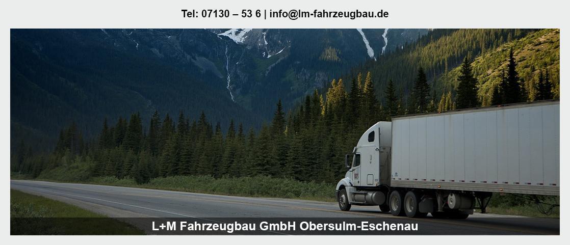 Fahrzeugbau in Bretzfeld - L+M Fahrzeugbau GmbH: Tiefladeranhänger, Anhänger