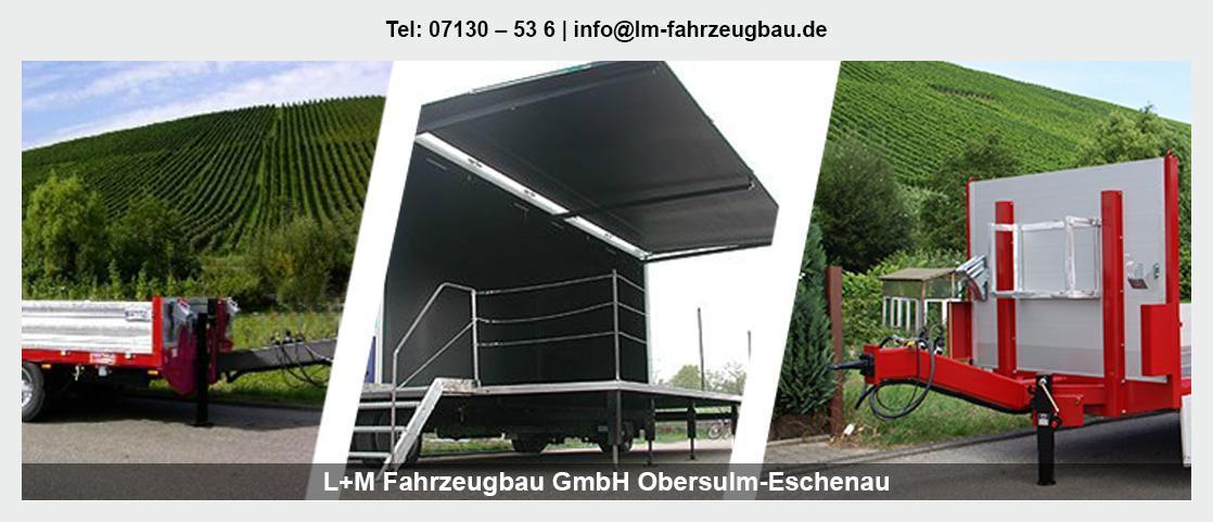 Fahrzeugbau in Weinsberg - L+M Fahrzeugbau GmbH: Tiefladeranhänger, Tieflader